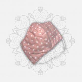 Masque tissu covid-19 fille rose