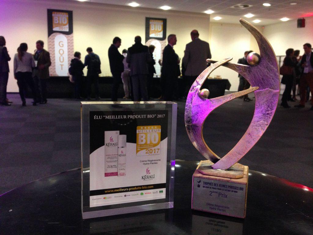Meilleur produit bio 2017 et 2eme prix jeune pousse 2017 HYDRA-PLANTES KERALI